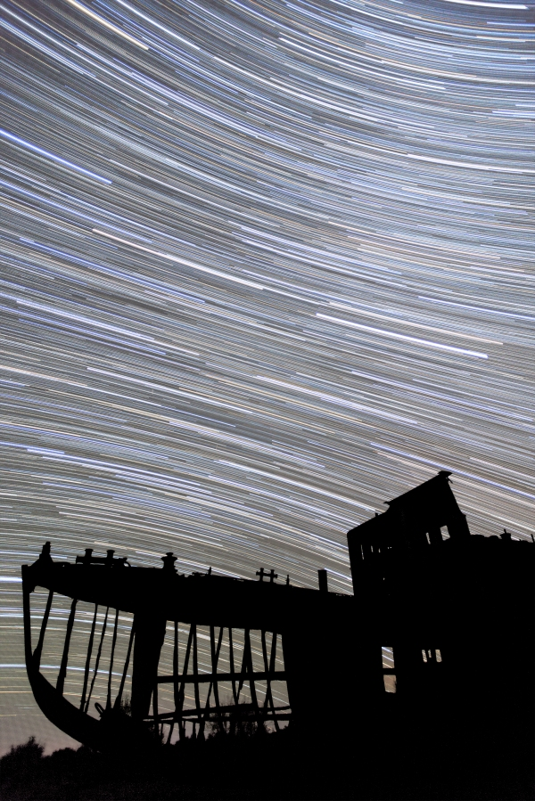 Aral Sea Ship Star Trail