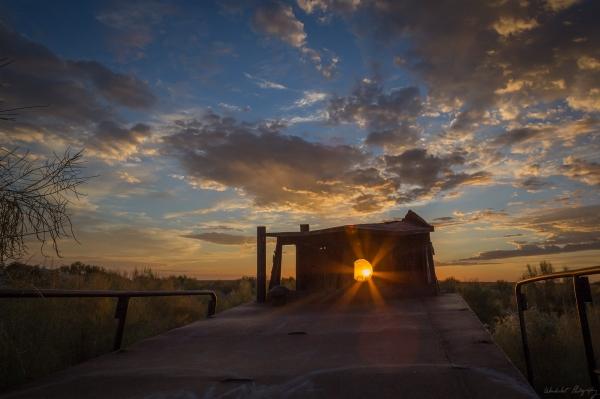 Aral Sea Ship Sunrise 3