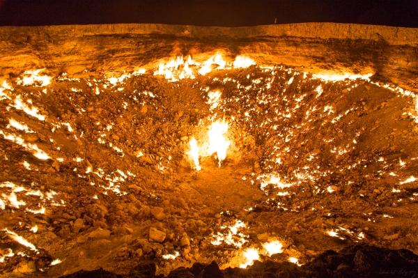 Darvaza Gas Crater Tamar scale