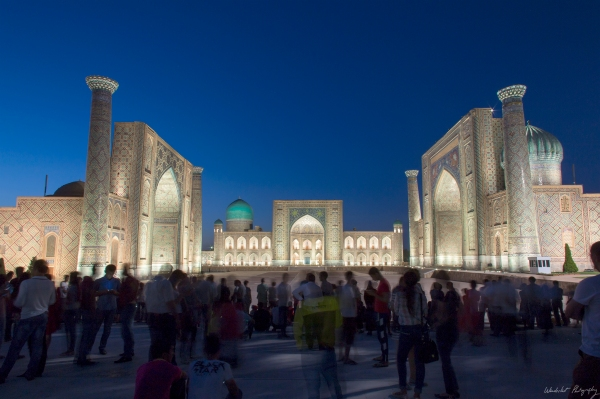 Registan by night