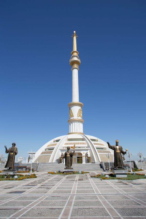 Strange totem pole Ashgabat