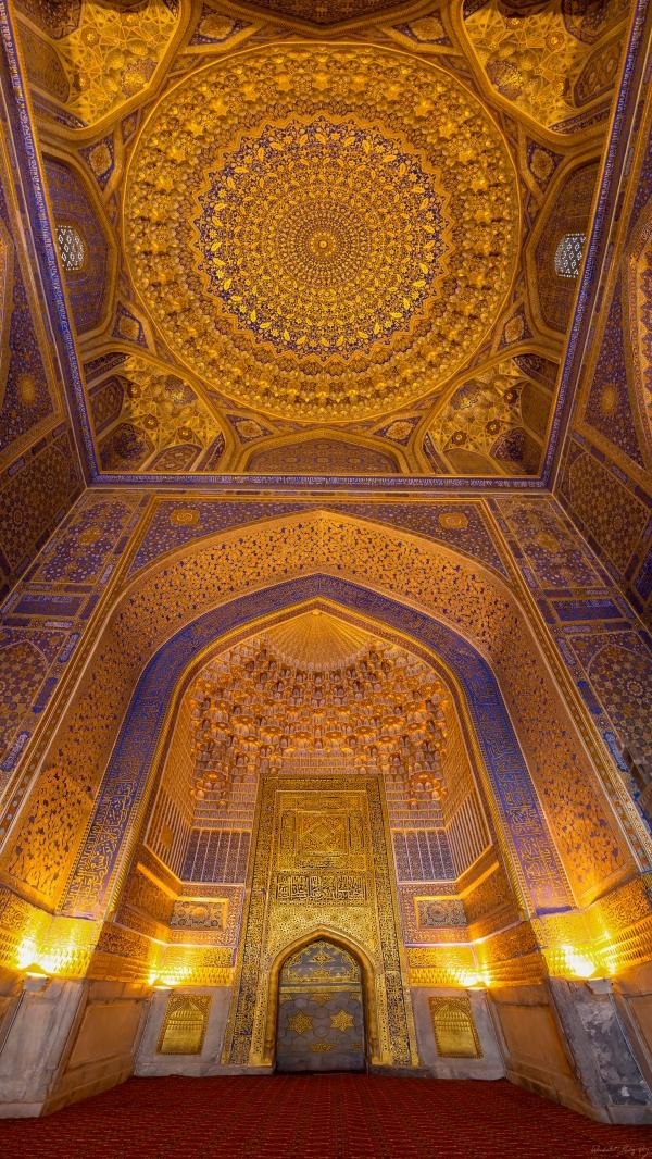Ceiling of Tilya-Kori Madrasah