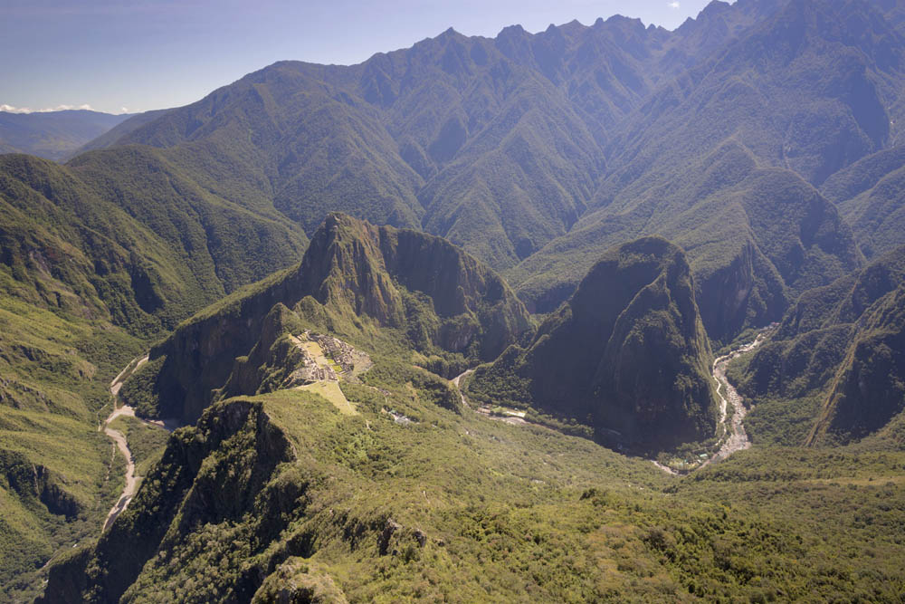 view from macchu picchu mountian